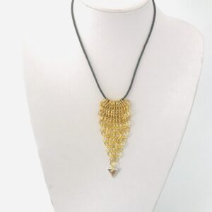 Gold Plated Chain Maille Necklace