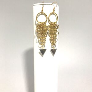 The Gold Plated Chain MailleDangle Earrings
