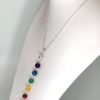 Chakra Necklace On Silver Plated Ball Chain