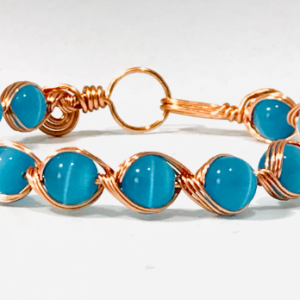 Wire Work Bangle With Cat's Eye