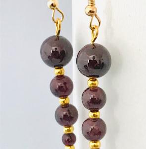 Garnet Crystal Dangle Earrings