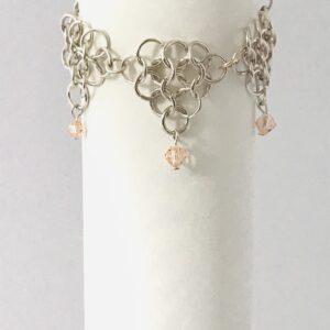 Chainmail Bracelet With Swarovski Crystals