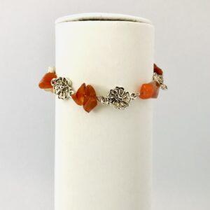 Carnelian Crystal Flower Bracelet