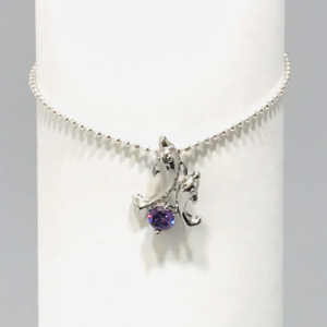 Dolphin Charm on Delicate Silver Chain