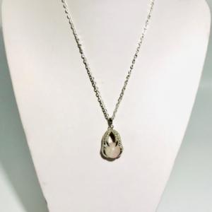 Necklace With Rose Quartz Pendant