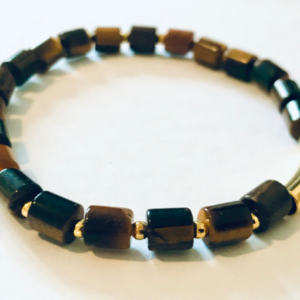 Bracelet For Men With Tigers Eye Protective Crystals