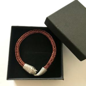 Viking Bracelet For Men in Antique Copper Wire Knit