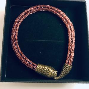 Viking Bracelet With Snake Clasp For Men