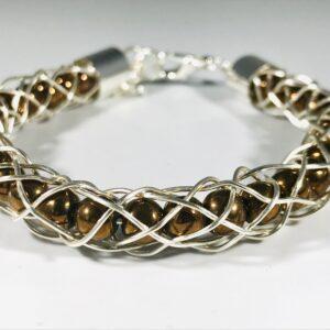 Electroplated Copper Kumihimo Bracelet