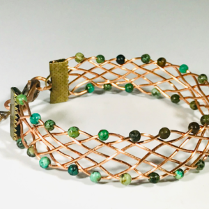 African Turquoise Cuff Bracelet