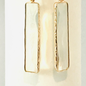 Crystal Opalite Drop Earrings, with Gold Plated Trim