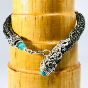 Men's Bracelet in Haemtite Viking Knit