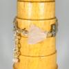 Wire Work Cuff Bracelet With Rose Quartz