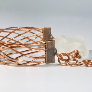 The Copper Cuff Bracelet With Quartz
