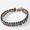 Cuff Bracelet in Copper Wire Work and Haematite