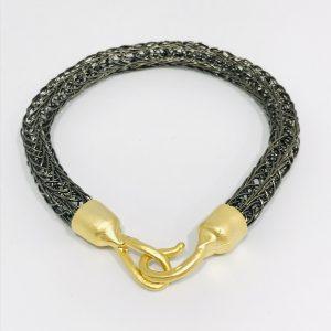 Men's Viking Knit Bracelet in Haematite