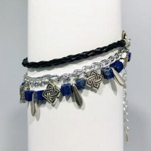 Multi Strand Lapis Lazuli Bracelet
