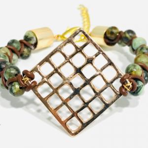 African Turquoise Goddess Bracelet