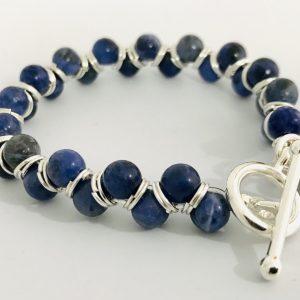 Goddess Bracelet with Sodalite Crystals