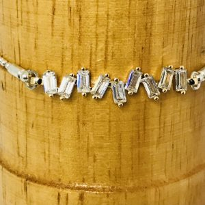 Delicate Cubic Zirconia Bracelet in Silver