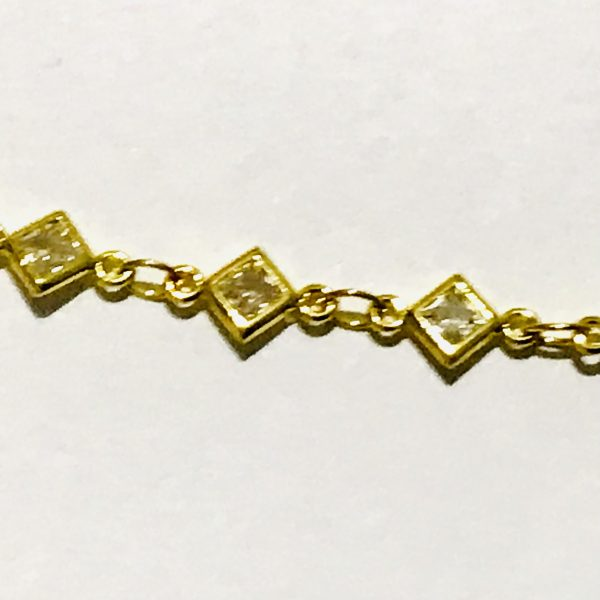 Clear Quartz Arrowhead Bracelet Gold Plated