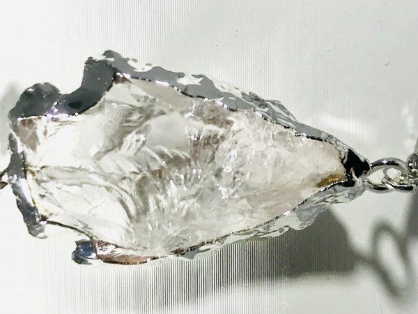 Rough Cut Quartz Arrowhead Bracelet in Silver