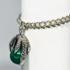 Malachite Crystal Claw Bracelet