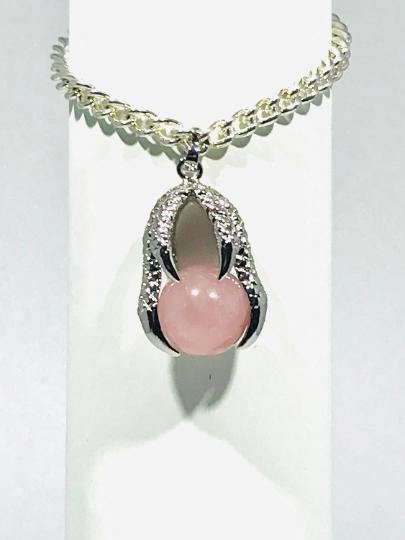 Rose Quartz Claw Bracelet